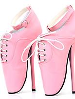 preiswerte -Damen Schuhe PU Frühling Sommer Neuheit High Heels Stöckelabsatz Runde Zehe Schnalle Purpur / Rot / Rosa / Party & Festivität