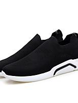 Недорогие -Муж. Легкие подошвы Трикотаж Лето Удобная обувь Кеды Черный / Серый