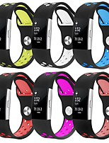 abordables -Bracelet de Montre  pour Fitbit Charge 2 Fitbit Bracelet Sport Silikon Sangle de Poignet