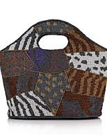 cheap -Women's Bags Polyester Evening Bag Beading / Buttons Black / Gray