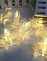 cheap -3m String Lights 20 LEDs Warm White / RGB Decorative Batteries Powered 1pc