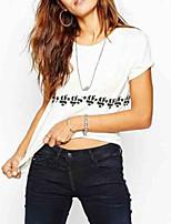 economico -t-shirt da donna - girocollo geometrico