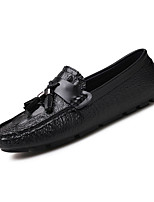 cheap -Men's Shoes Patent Leather Summer Moccasin Loafers & Slip-Ons White / Black / Blue