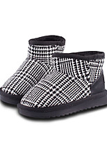 cheap -Girls' Shoes Satin Winter Snow Boots / Fluff Lining Boots Walking Shoes for Kids Black / White / Black / Red / Booties / Ankle Boots