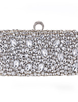 cheap -Women's Bags Polyester Evening Bag Crystals Black / Silver