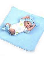 cheap -NPKCOLLECTION Reborn Doll Baby Boy / Baby Girl 12 inch Full Body Silicone / Vinyl - lifelike, Artificial Implantation Blue Eyes Kid's Unisex Gift