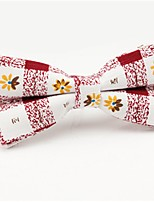 cheap -Men's Party / Basic Cotton / Polyester Bow Tie - Floral / Geometric / Color Block Bow / All Seasons