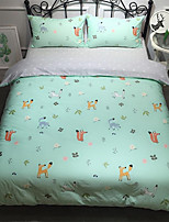 cheap -Duvet Cover Sets Cartoon 100% Cotton Printed 4 Piece