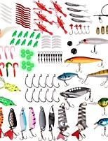 abordables -Caja de pesca Caja de cebos Resistente al Agua / Fácil de llevar 2 Bandejas Gel de Sílice / El plastico / Acero de carbono 20.5 cm*4 cm*4 cm