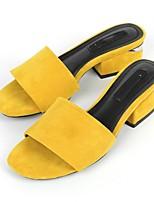 cheap -Women's Shoes Cotton Summer Slingback Slippers & Flip-Flops Chunky Heel Open Toe Black / Yellow / Pink