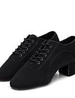 preiswerte -Damen Schuhe für modern Dance Oxford Absätze Kubanischer Absatz Maßfertigung Tanzschuhe Schwarz