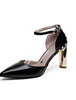 cheap -Women's Shoes PU(Polyurethane) Summer Comfort / Basic Pump Heels Chunky Heel Black / Beige