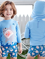 cheap -Boys' Rash Guard Dive Skin Suit UV Sun Protection, Quick Dry, Breathable Nylon / Spandex Long Sleeve Swimwear Beach Wear Swimwear 3-Piece Swimming / Beach / Water Sports