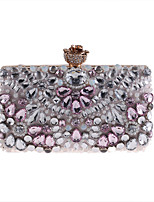 cheap -Women's Bags Polyester Evening Bag Beading / Crystals Blushing Pink