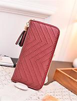 cheap -Women's Bags PU(Polyurethane) Wallet Zipper / Tassel Red / Gray / Coffee