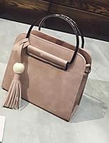 cheap -Women's Bags PU(Polyurethane) Tote Tassel Red / Blushing Pink / Gray