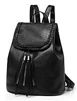 Недорогие -Жен. Мешки PU рюкзак Несколько слоев Черный