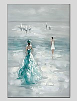 economico -Hang-Dipinto ad olio Dipinta a mano - Paesaggi / Ritratti Modern Tela