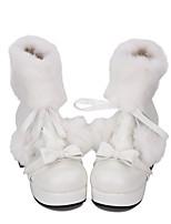 economico -Scarpe Dolce / Lolita Classica e Tradizionale Principessa Quadrato Scarpe Tinta unita 7.5 cm CM Bianco Per PU