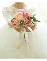 abordables -Fleurs de mariage Bouquets Mariage / Fête de Mariage Satin / Tissus 11-20 cm