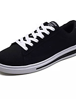 Недорогие -Муж. Полотно Осень Удобная обувь Кеды Контрастных цветов Серый / Черный и золотой / Черно-белый