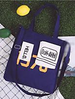 cheap -Women's Bags Canvas Shoulder Bag Pattern / Print Blue / White / Black