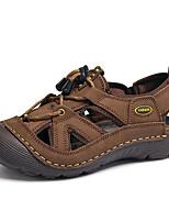 cheap -Men's Spring / Summer Business / Casual / Beach Home Sandals Walking Shoes / Upstream Shoes PU Breathable Waterproof Non-slipping Dark Brown / Khaki Slogan