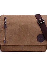 cheap -Men's Bags Canvas Shoulder Bag Zipper Black / Brown
