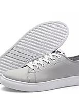 Недорогие -Муж. Полотно Осень Удобная обувь Кеды Черный / Серый / Красный
