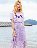 cheap -Women's Polo - Color Block Skirt
