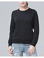 abordables -camiseta deportiva para mujer - cuello redondo de color sólido