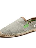 economico -Per uomo Lino Estate Comoda Sneakers Blu scuro / Marrone / Verde militare