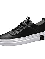 cheap -Men's Cowhide Summer Comfort Sneakers White / Black