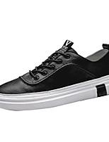 Недорогие -Муж. Кожа Лето Удобная обувь Кеды Белый / Черный