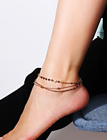 cheap -Layered Anklet - Elephant Elegant, Multi Layer Gold / Silver For Daily / Street / Women's