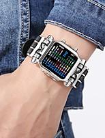 Недорогие -Муж. Спортивные часы / Армейские часы Японский Новый дизайн / Творчество / Светящийся Нержавеющая сталь Группа Роскошь / Кольцеобразный