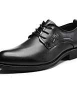 cheap -Men's Shoes Cowhide Spring Comfort Oxfords Black