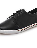 Недорогие -Жен. Обувь Наппа Leather Осень Удобная обувь Кеды На плоской подошве Белый / Черный