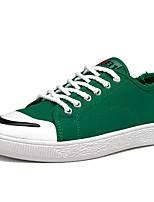 Недорогие -Муж. Полотно Осень Удобная обувь Кеды Черный / Красный / Зеленый