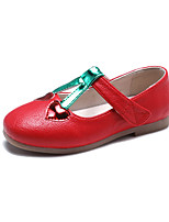 cheap -Girls' Shoes PU(Polyurethane) Spring & Summer Comfort / Flower Girl Shoes Flats Walking Shoes Sequin for Kids White / Red / Pink