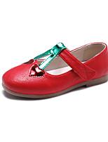 Недорогие -Девочки Обувь Полиуретан Весна лето Удобная обувь / Детская праздничная обувь На плокой подошве Для прогулок Пайетки для Дети Белый / Красный / Розовый