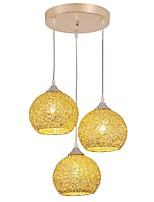 baratos -QIHengZhaoMing 3-luz Luzes Pingente Luz Ambiente 110-120V / 220-240V, Branco Quente, Lâmpada Incluída