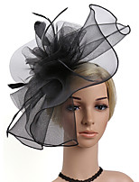cheap -Women's Fashion / Elegant Hair Clip / Fascinator - Solid Colored Flower / Mesh