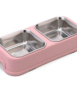 cheap -300 L L Dogs / Rabbits / Cats Bowls & Water Bottles / Feeders / Food Storage Pet Bowls & Feeding Portable / Waterproof / Durable Green / Blue / Pink