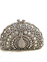 cheap -Women's Bags Rhinestones Evening Bag Crystals Silver