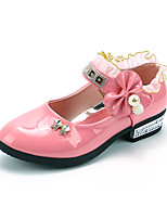 cheap -Girls' Shoes Flocking / Faux Leather Spring & Summer Comfort Flats Walking Shoes Bowknot / Magic Tape for Kids Peach / Red / Pink