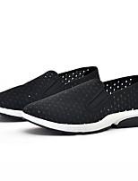 baratos -Homens sapatos Com Transparência Verão Conforto Mocassins e Slip-Ons Preto
