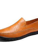 Недорогие -Муж. обувь Наппа Leather Весна & осень Удобная обувь Мокасины и Свитер Черный / Желтый / Темно-коричневый / Для вечеринки / ужина