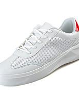 preiswerte -Herrn Gitter / PU Herbst Komfort Sneakers Einfarbig Weiß / Rot / Weiß und Grün