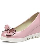 abordables -Femme Chaussures Polyuréthane Printemps été Escarpin Basique Chaussures à Talons Hauteur de semelle compensée Bout pointu Blanc / Rose